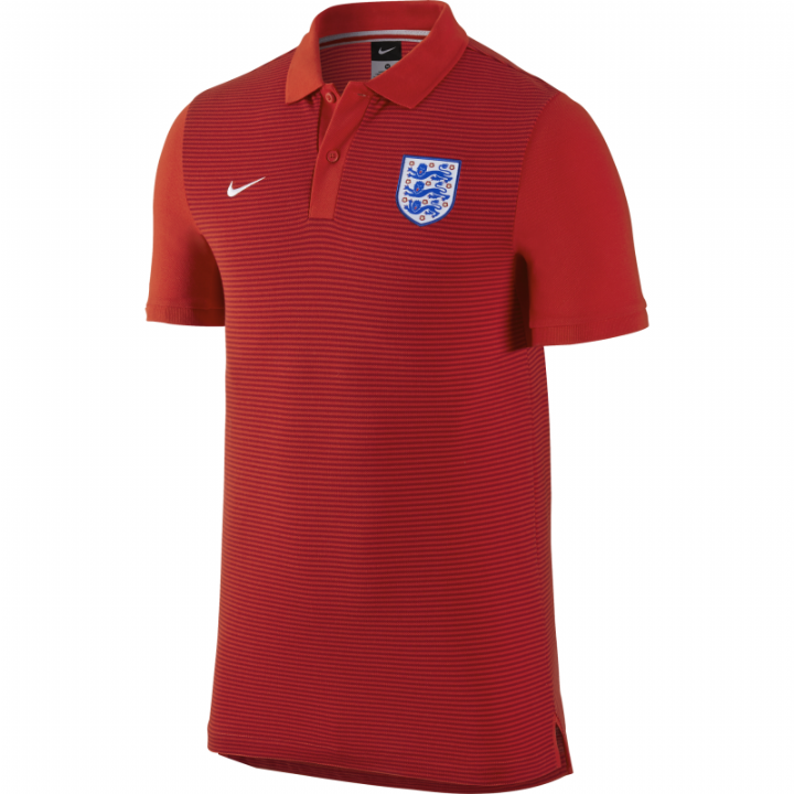 Nike England Authentic Slim Grand Slam Polo Shirt 2016/17-Red-Mens Image