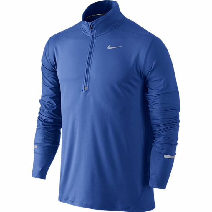 Nike Dri-Fit Element Half-Zip Top Long Sleeve - Royal Blue-Mens Image