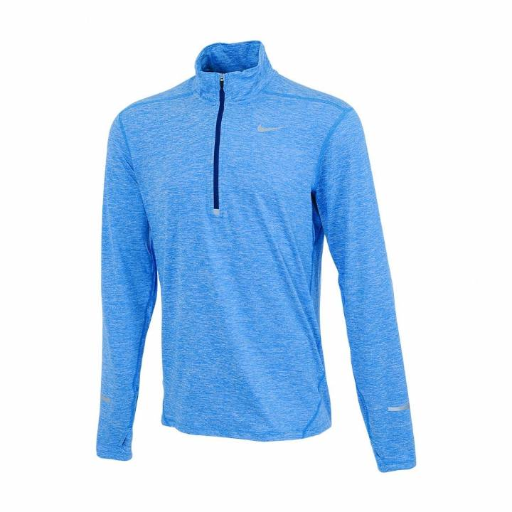 Nike Dri-Fit Element Half-Zip Top - Long Sleeve - Light Blue-Mens Image