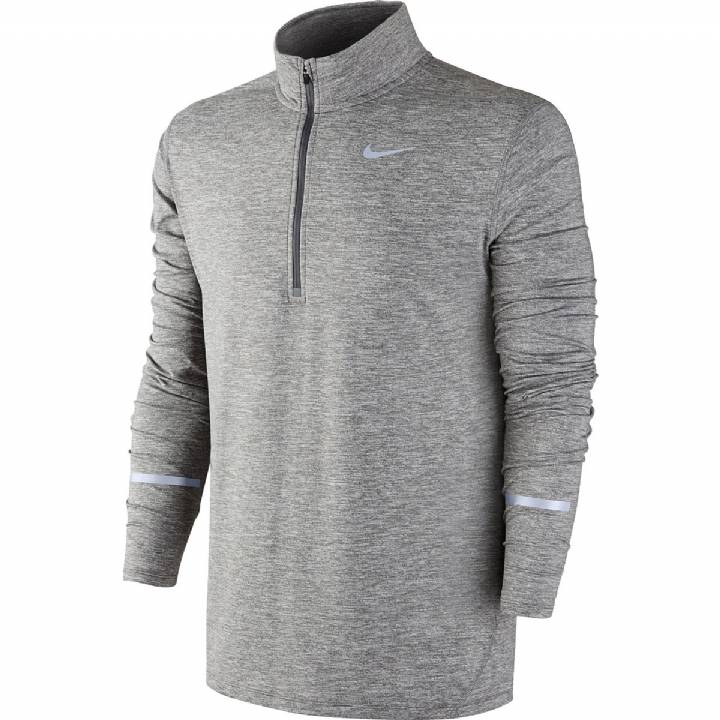 Nike Dri-Fit Element Half-Zip Top Long Sleeve - Grey-Mens Image