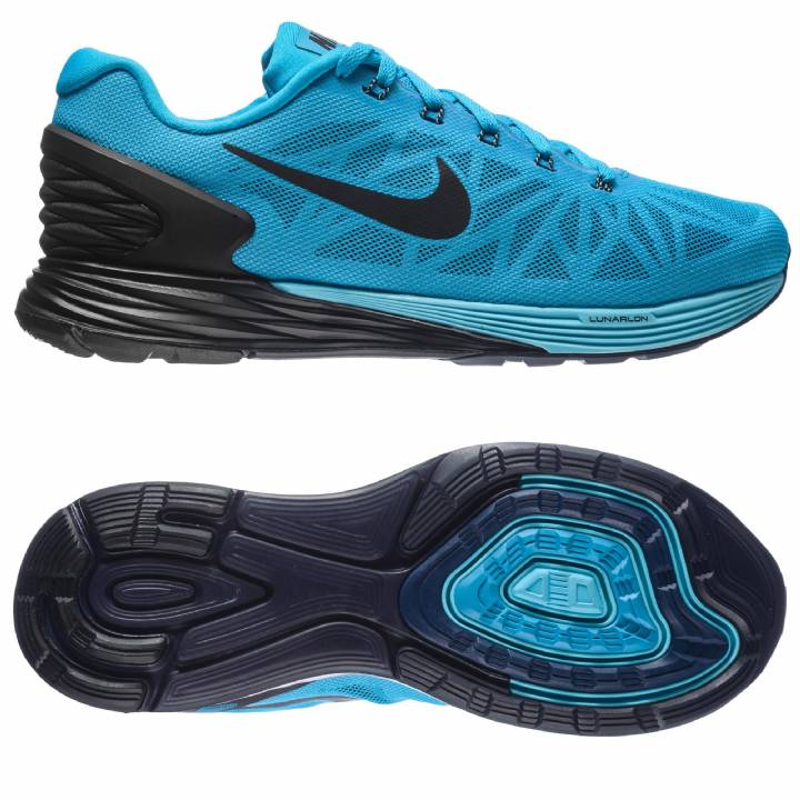 Nike Lunarglide 6 Trainers - Blue-Mens Image