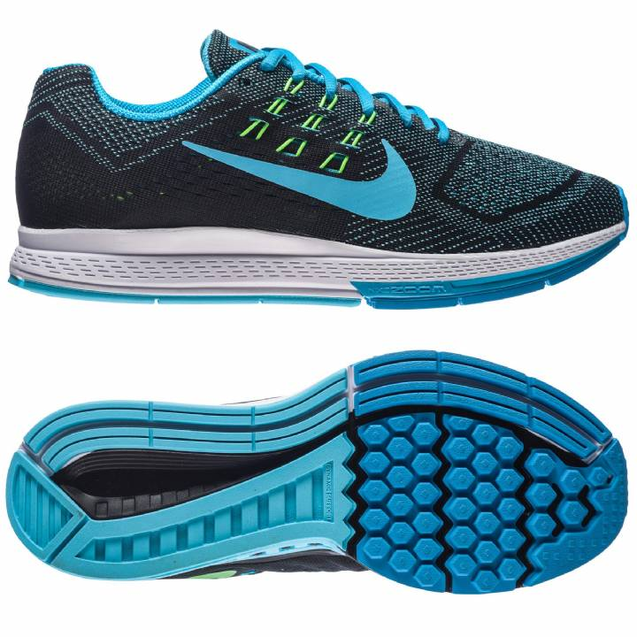 Nike Air Zoom Structure 18 Trainers - Blue-Mens Image
