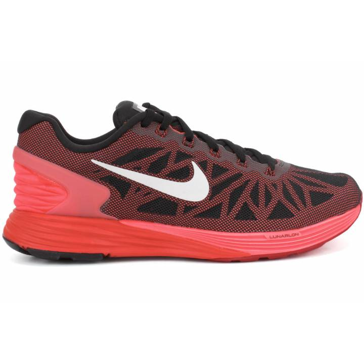 Nike Lunarglide 6 Trainers - Black/Red-Mens Image