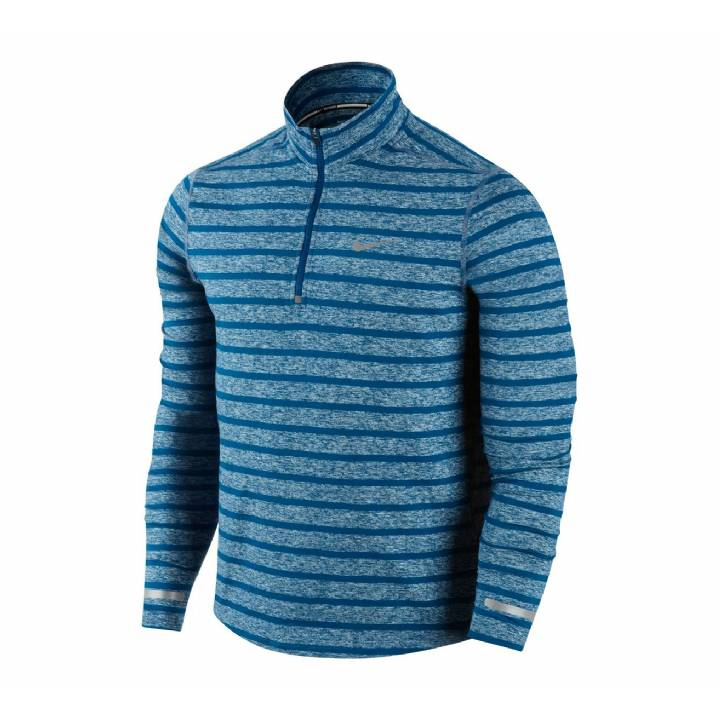 Nike Dri-Fit Element Half-Zip Top - Long Sleeve -Blue-Mens Image