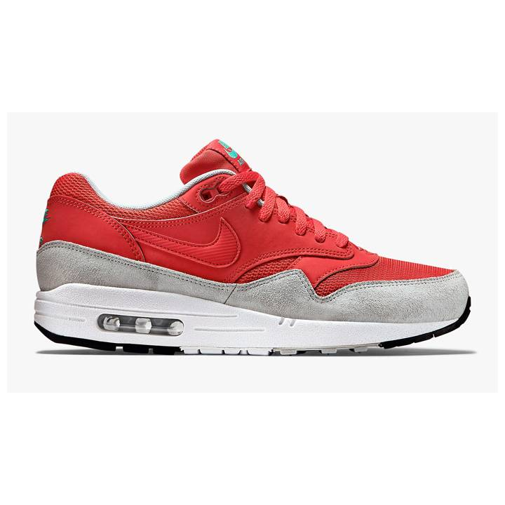 Nike Air Max 1 Essential Trainers - Red-Mens Image