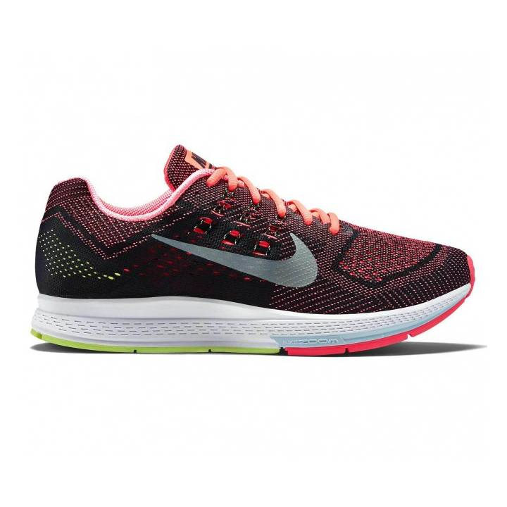 nike air zoom structure 18 trainers red mens running. Black Bedroom Furniture Sets. Home Design Ideas