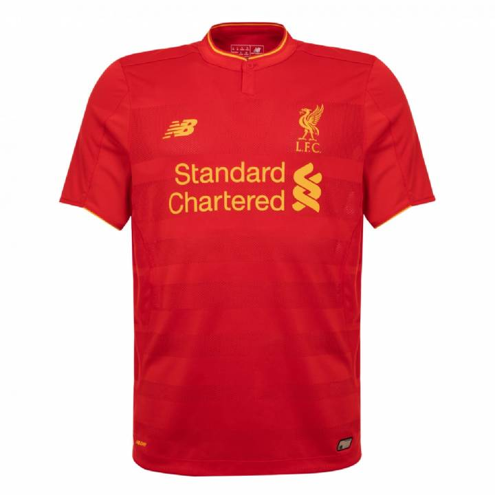 New Balance Liverpool Home Shirt 2016/17-Kids Image