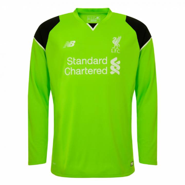 New Balance Liverpool Home Goalkeeper Shirt 2016/17-Kids Image