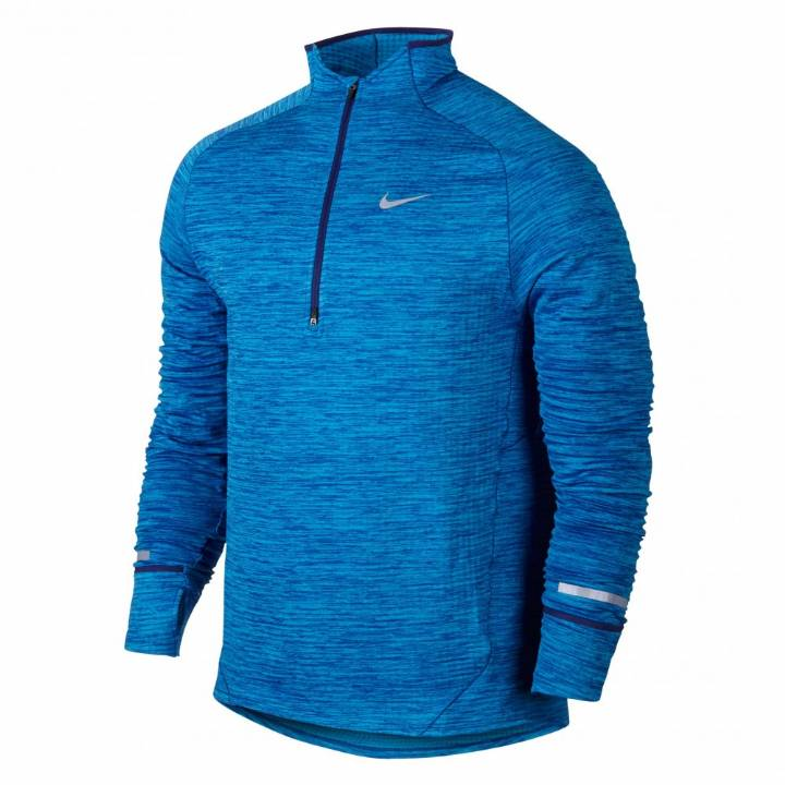 Nike Element Sphere Half-Zip Running Top- Blue-Mens Image