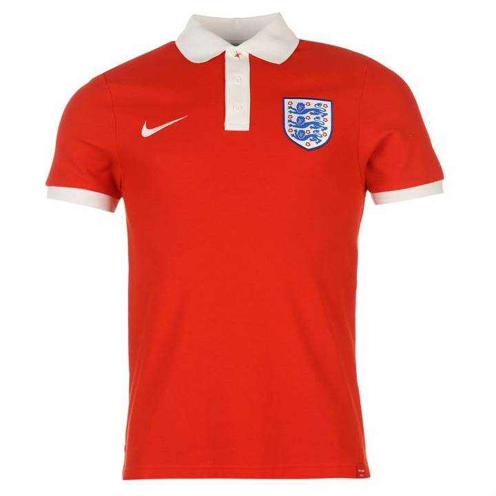 Nike England Core Matchup Polo Shirt 2016/17-Red-Mens Image