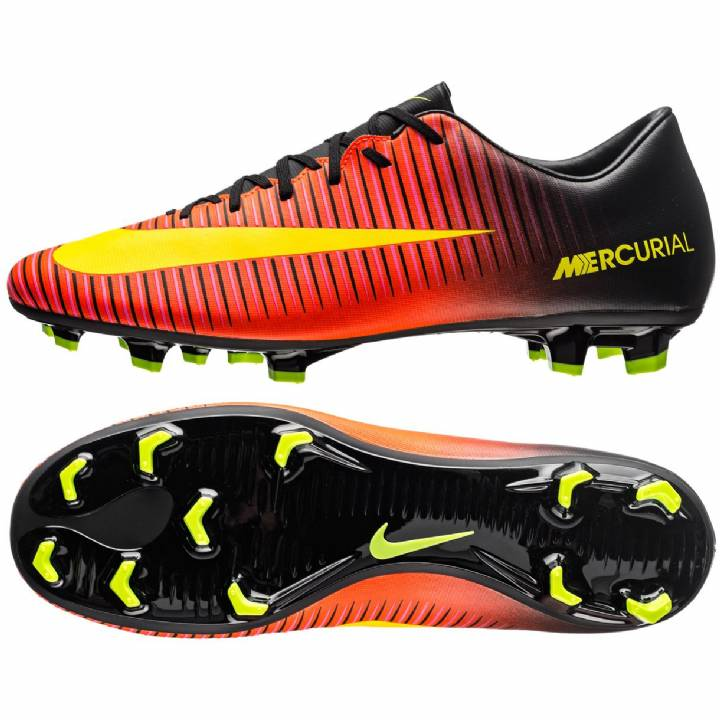Nike Mercurial Victory VI Firm Ground Football Boots-Total Crimson/Black/Pink Blast/Volt Image