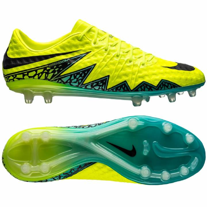 Nike Hypervenom Phinish Firm Ground Football Boots - Volt/Black/Hyper Turquoise/Clear Jade Image