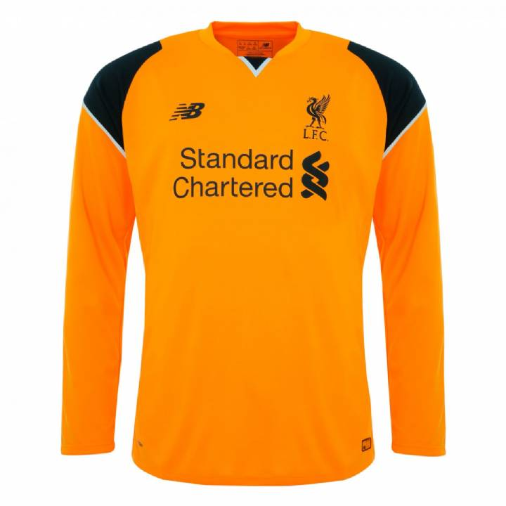 New Balance Liverpool Away Goalkeeper Shirt 2016/17-Kids Image