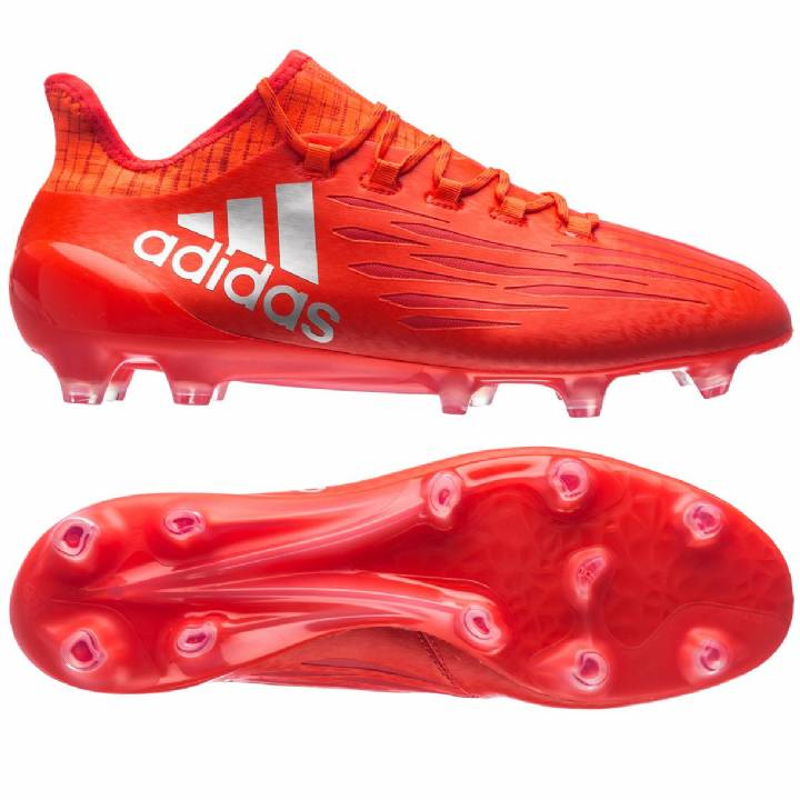adidas X 16.1 Firm Ground Football Boots Solar Red/Metallic Silver