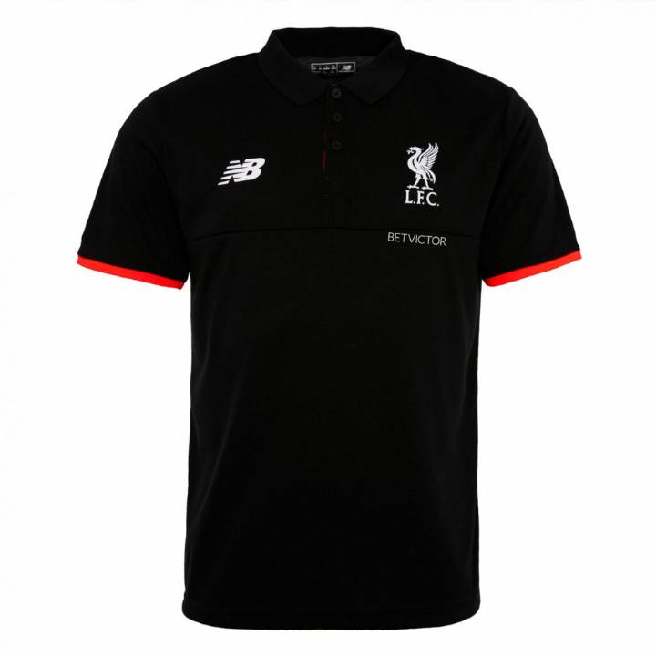 New Balance Liverpool Training Polo Shirt 2016/17 -Black - Mens Image