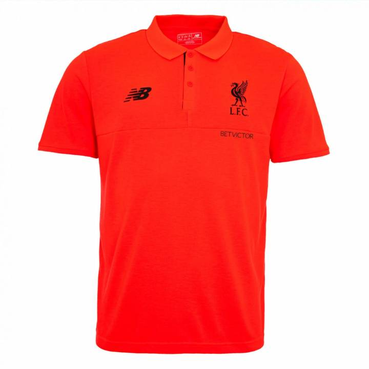 New Balance Liverpool Training Polo Shirt 2016/17 -Red - Mens Image