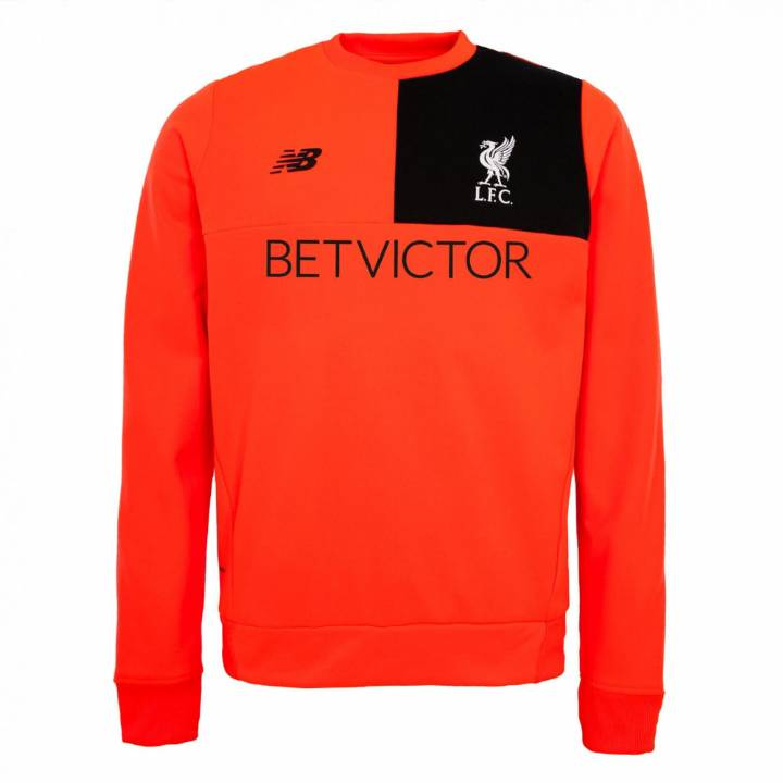 New Balance Liverpool Training Sweat Top 2016/17 -Red - Mens Image