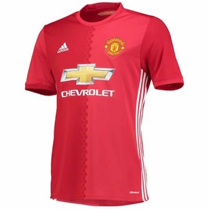 adidas Manchester United Home Shirt 2016/17 - Mens Image