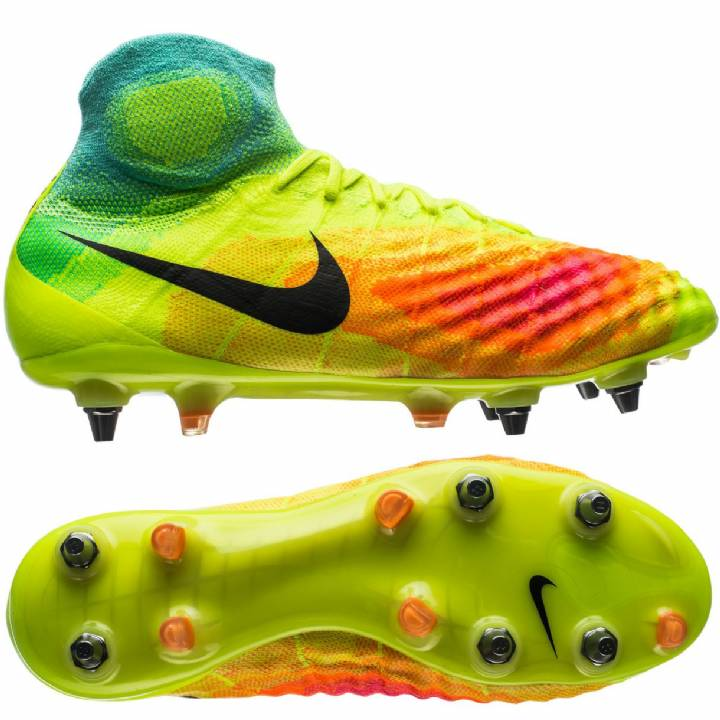 Nike Magista Obra II Soft Ground-Pro Football Boots - Volt/Black/Total Orange/Pink Blast