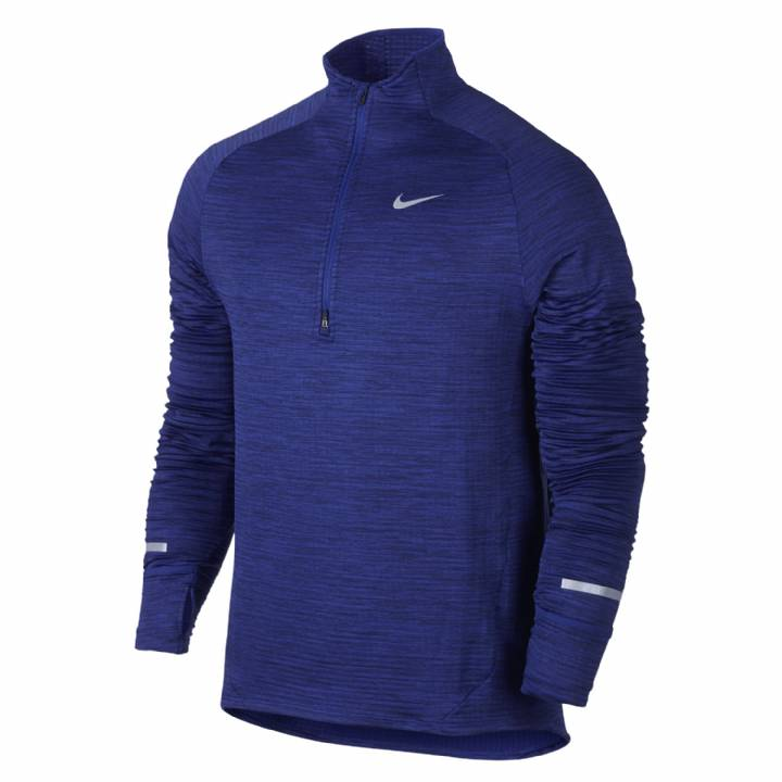 Nike Element Sphere Half-Zip Running Top-Deep Royal Blue/Heather/Obsidian Image