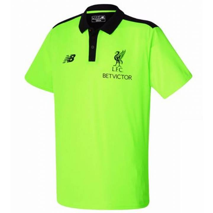 New Balance Liverpool Third Training Polo Shirt 2016/17-Toxic-Mens Image