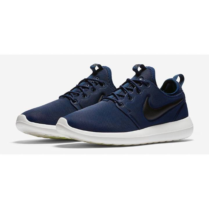 Nike Roshe Two Trainers - Midnight Navy/Sail/Volt/Black - Mens Image