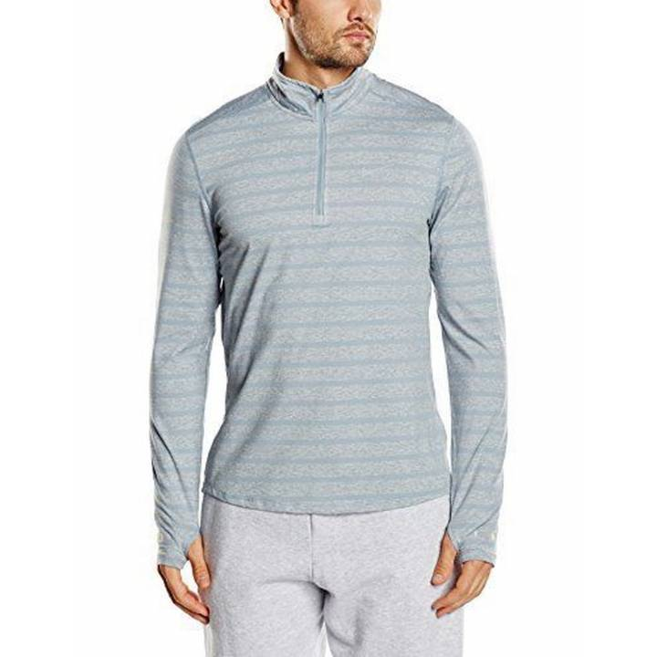 Nike Element Stripe 1/2 Zip Long Sleeve Running Top - Dove Grey/Heather - Mens Image