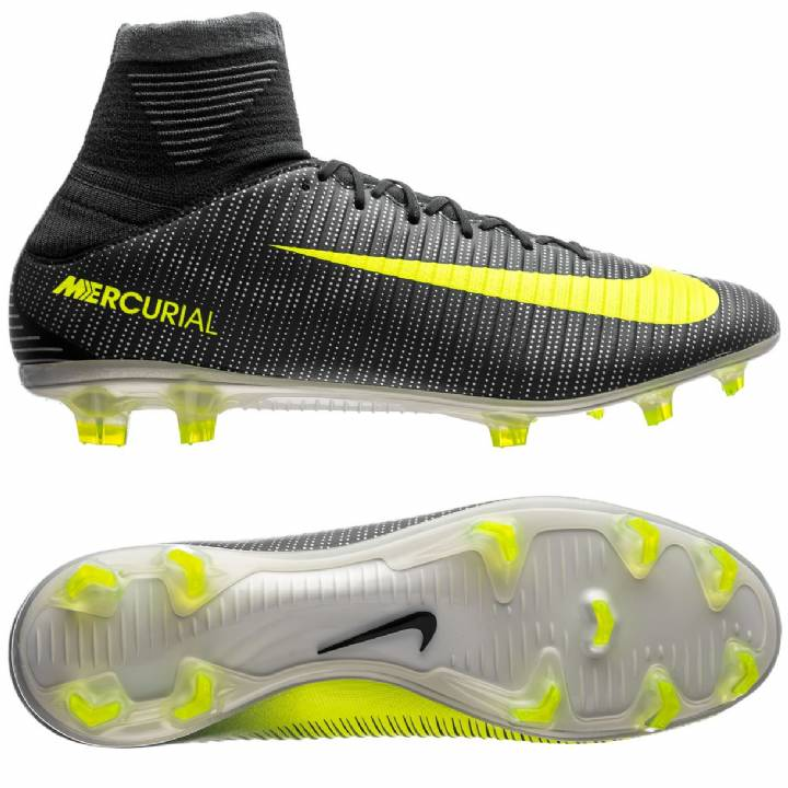 Nike Mercurial Veloce III DF CR7 Firm Ground Football Boots - Seaweed/Volt/Hasta/White Image