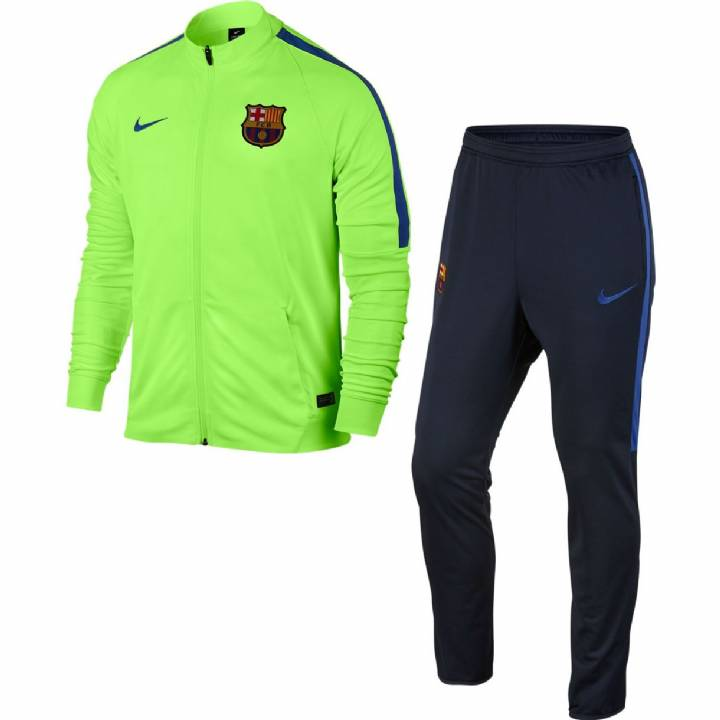 Nike Barcelona Squad Woven Tracksuit 2016/17- Green -Mens Image