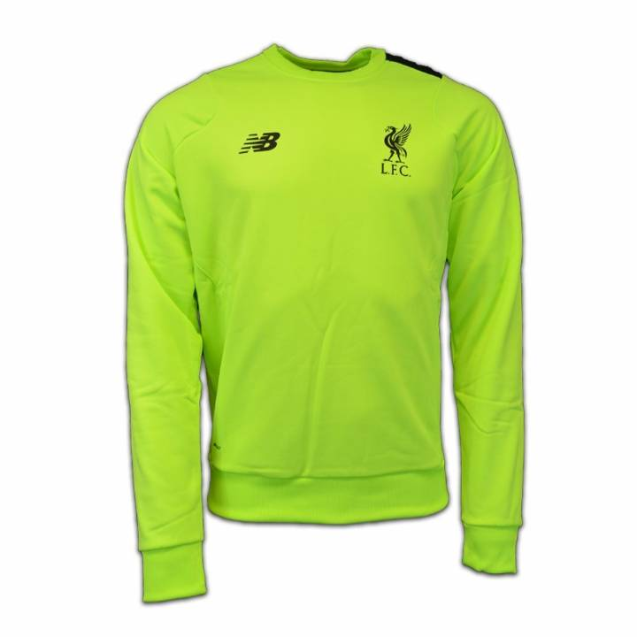New Balance Liverpool Third Training Sweat Top 2016/17 -Green - Mens Image