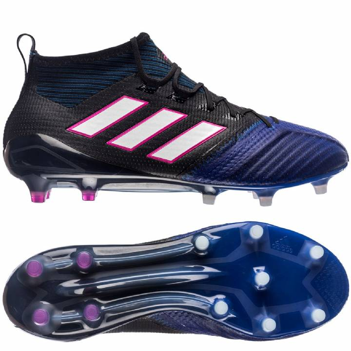 adidas Ace 17.1 Primeknit Firm Ground Football Boots - Core Black/White/Blue Image