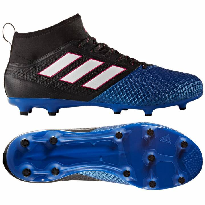 adidas Ace 17.2 Primemesh Firm Ground Football Boots - Core Black/White/Blue Image