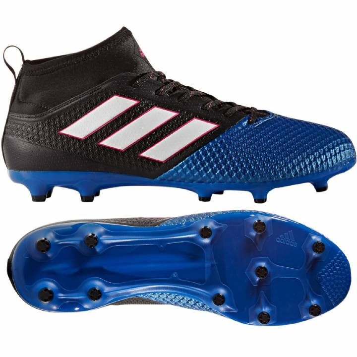 adidas Ace 17.3 Primemesh Firm Ground Football Boots - Core Black/White/Blue Image