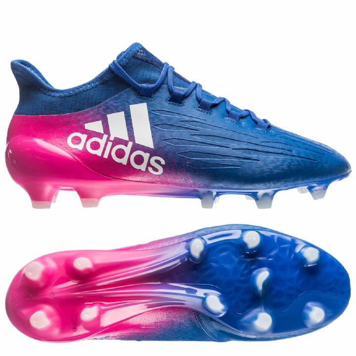 adidas X 16.1 Firm Ground Football Boots - Blue/White/Shock Pink