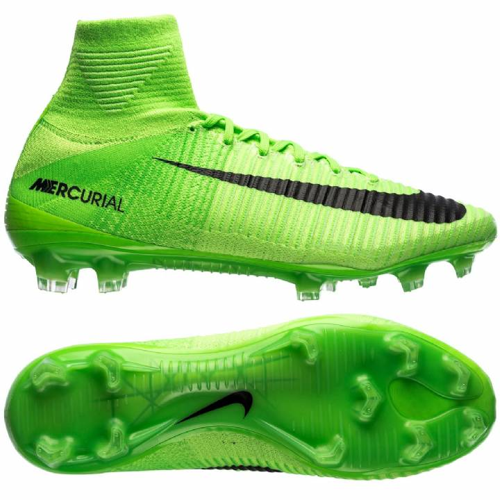 Nike Mercurial Superfly V Firm Ground Football Boots - Electric Green/Black/Ghost Green/White Image