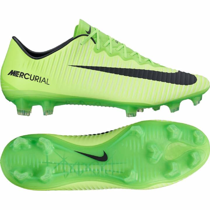 Nike Mercurial Vapor XI Firm Ground Football Boots - Electric Green/Black/Flash Lime/White Image