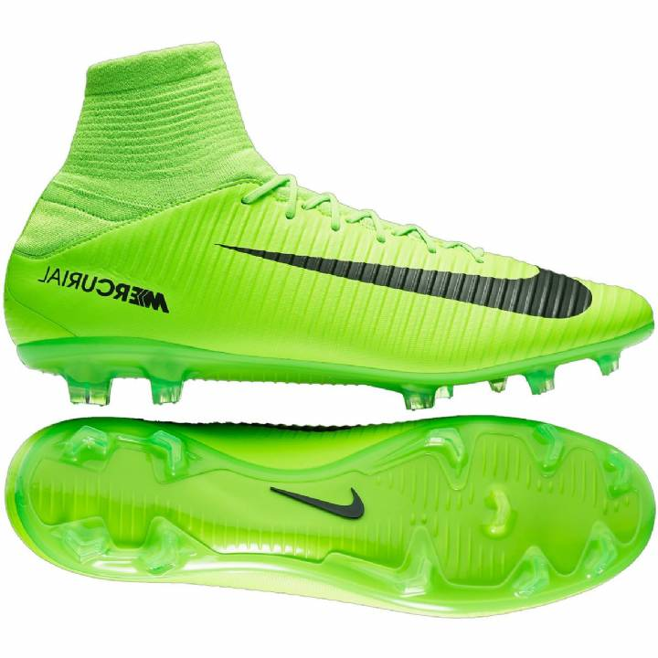 Nike Mercurial Veloce III Df Firm Ground Football Boots - Electric Green/Black/Flash Lime/White Image