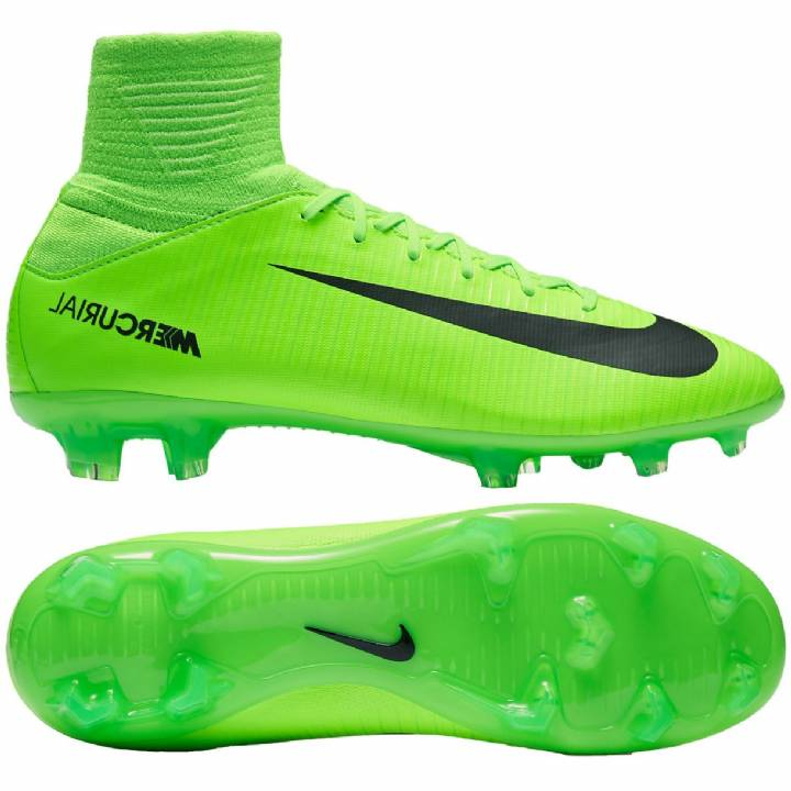 Nike Mercurial Superfly V Firm Ground Football Boots - Electric Green/Black/Flash Lime/White - Kids Image