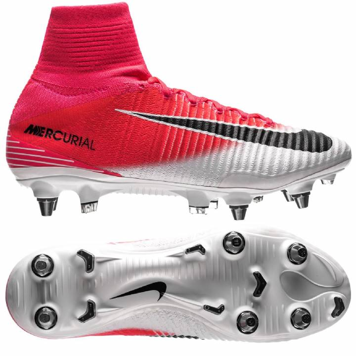 Nike Mercurial Superfly V Soft Ground Pro Football Boots - Racer Pink/Black/White Image