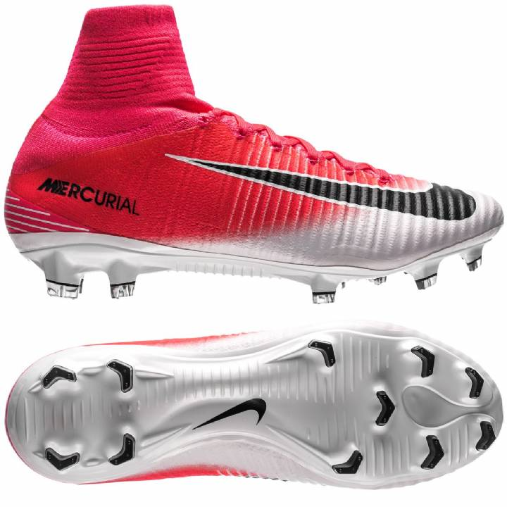 Nike Mercurial Superfly V Firm Ground Football Boots - Racer Pink/Black/White Image