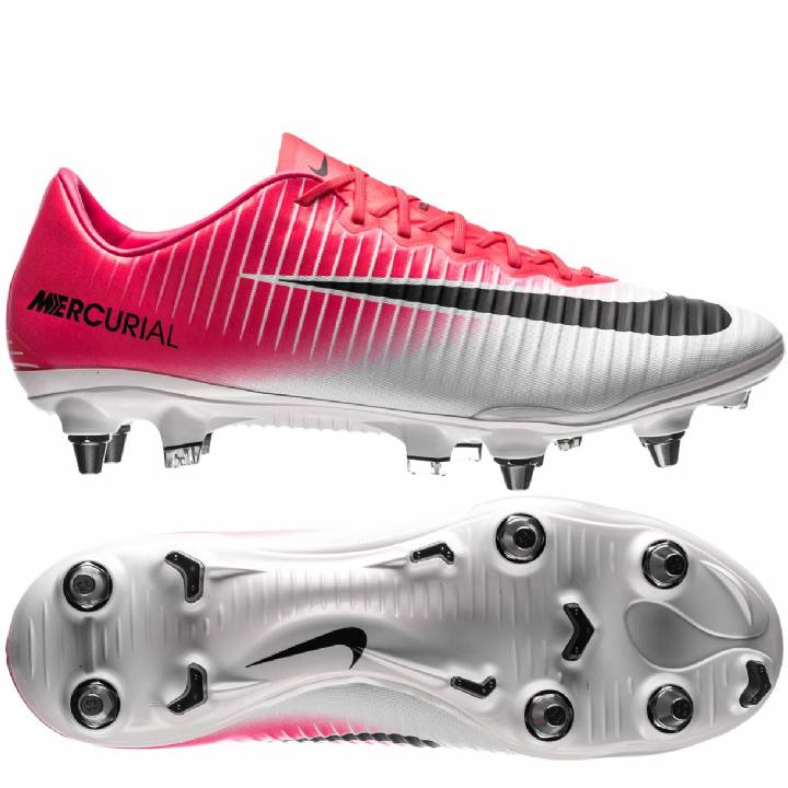 Nike Mercurial Vapor XI Soft Ground Pro Football Boots - Racer Pink/Black/White Image
