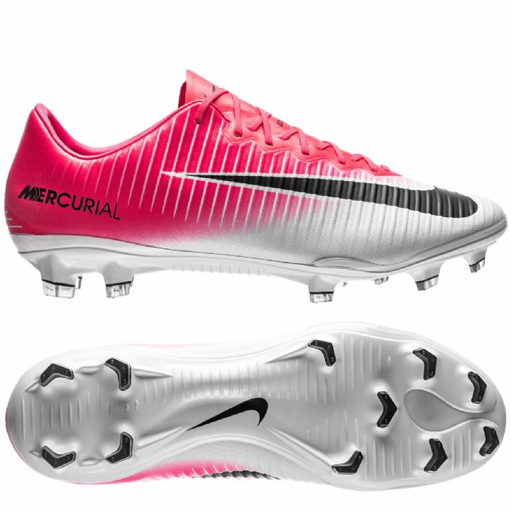 Nike Mercurial Vapor XI Firm Ground Football Boots - Racer Pink/Black/White Image