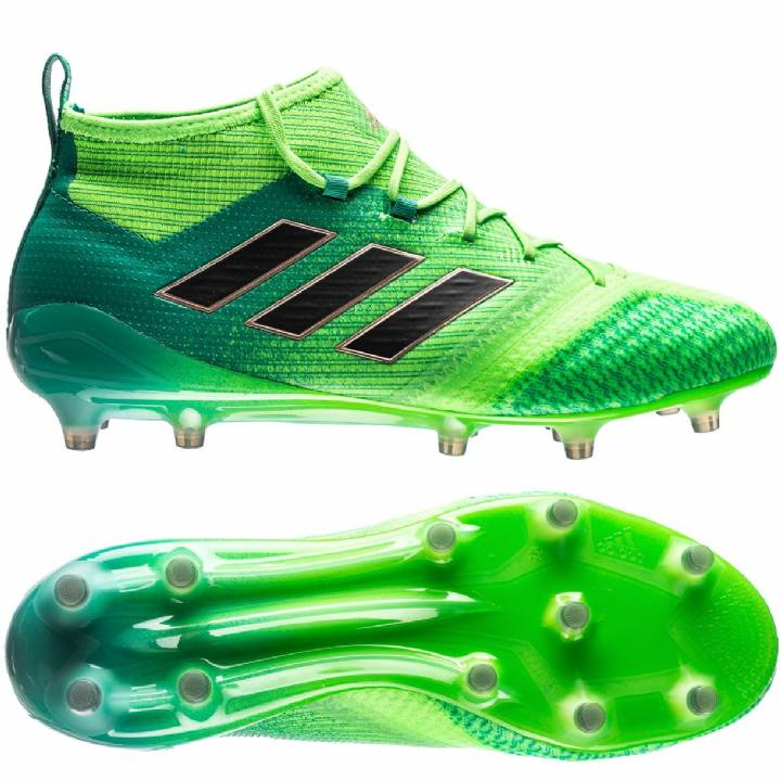 adidas Ace 17.1 Primeknit Firm Ground Football Boots - Solar Green/Core Black/Core Green Image