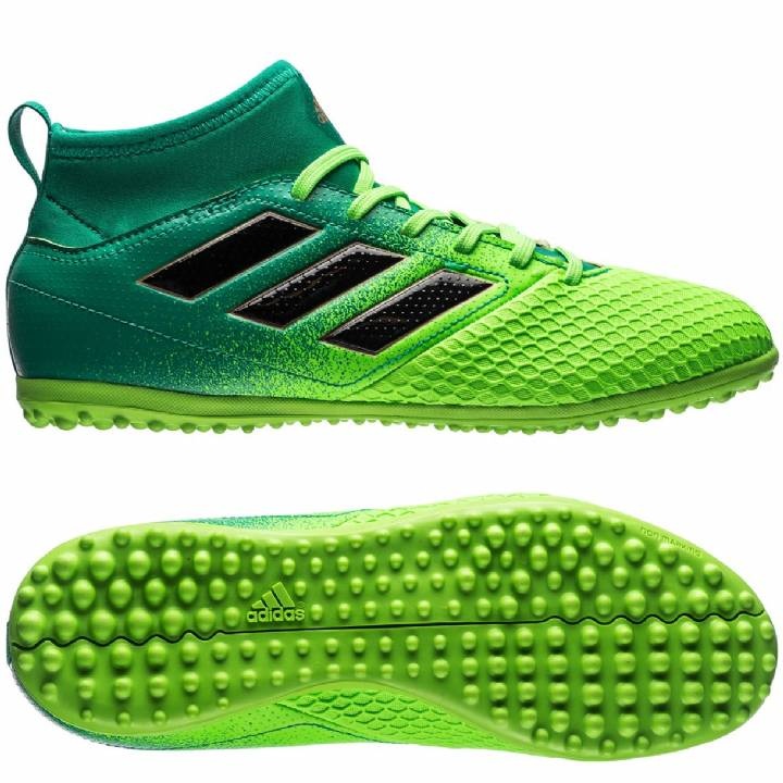 adidas Ace 17.3 Astroturf Trainers - Solar Green/Core Black/Core Green - Kids Image