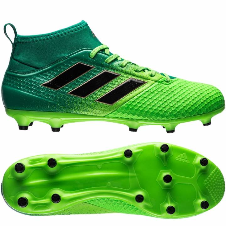 adidas Ace 17.3 Primemesh Firm Ground Football Boots - Solar Green/Core Black/Core Green