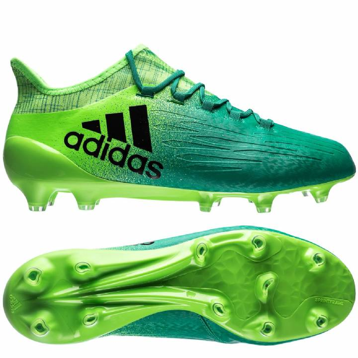 adidas X 16.1 Firm Ground Football Boots - Solar Green/Core Black/Core Green