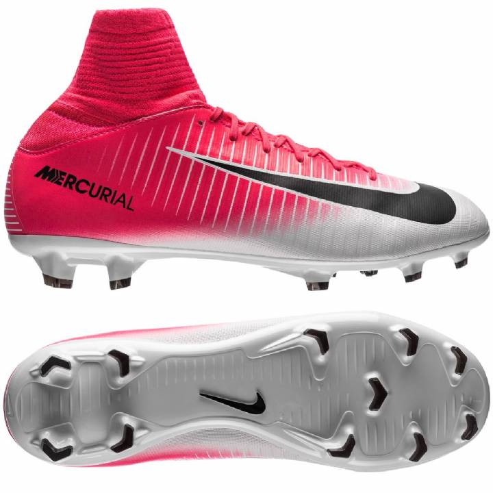 Nike Mercurial Superfly V Firm Ground Football Boots - Racer Pink/Black/White - Kids Image