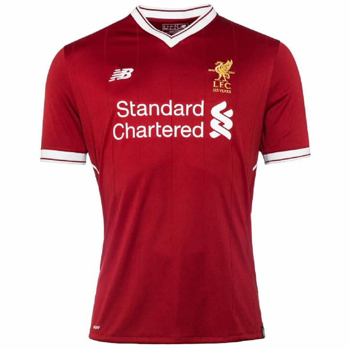 New Balance Liverpool Home Shirt 2017/18 - Kids Image