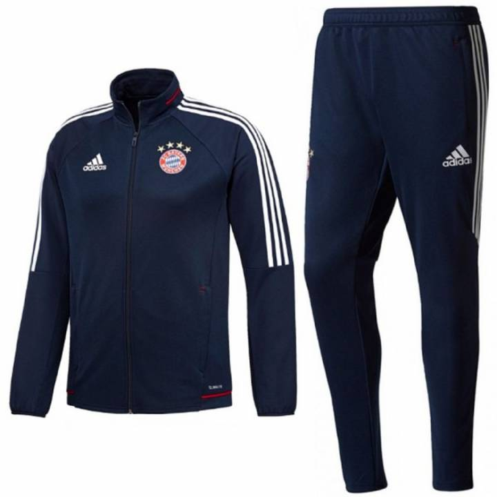 adidas Bayern Munich Training Tracksuit 2017/18 - Navy - Mens