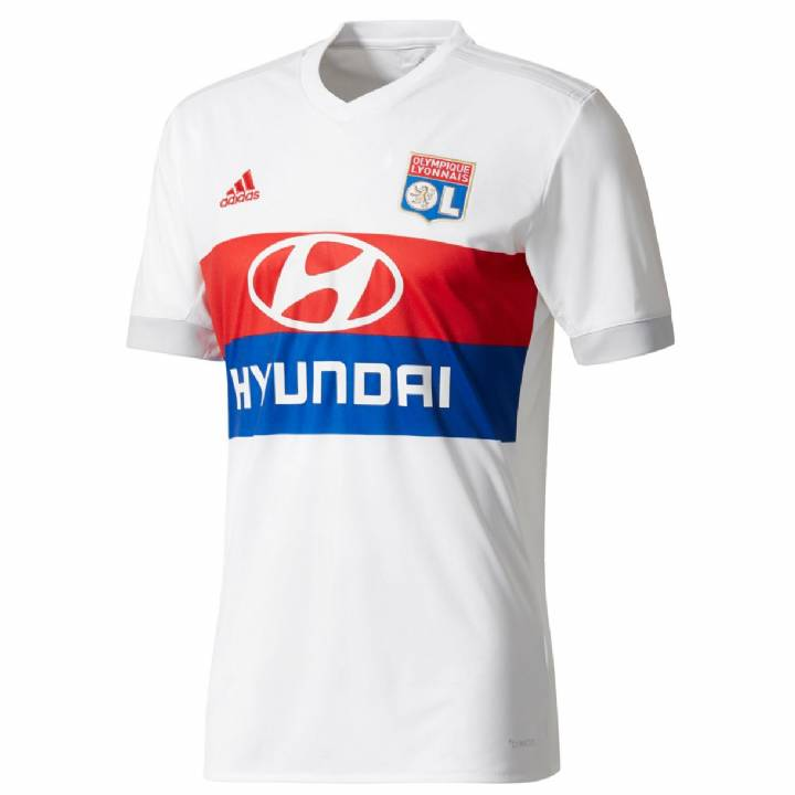 adidas Olympique Lyon Home Shirt 2017/18 - Mens Image